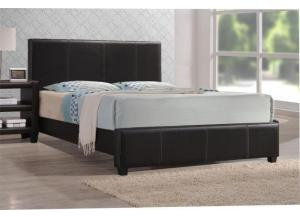 Brown Leather Twin Bed Frame ,InStore Products