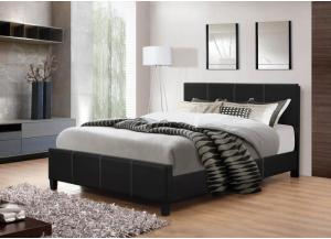 Black Leather Twin Bed Frame,InStore Products